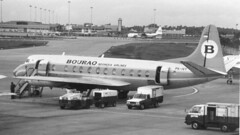 PK-IVY Vickers Viscount 843, C/N 455, Bouraq Indonesia Airlines CGK 131188 (kitmasterbloke) Tags: jakarta cgk sukarnohatta propliner indonesia 1988 airliner classic