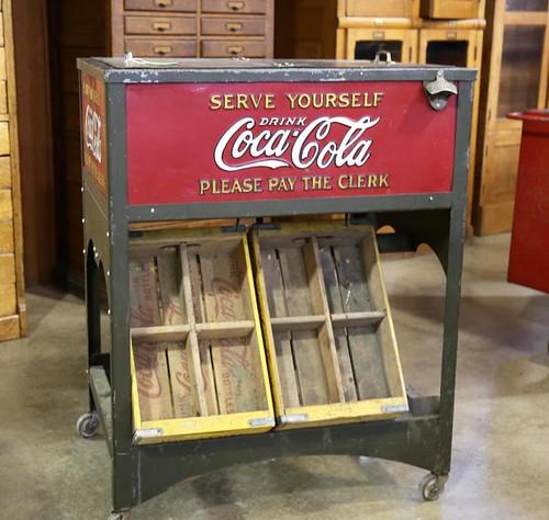 1929 Coca Cola Glascock double case cooler ($1,456.00)