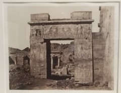 Island of Philae. Portal near the great temple (sftrajan) Tags: ancientegypt bibliothequenationaledefrance photography 19thcentury sfmoma philae temple archaeology museum ancientegyptianarchitecture فيله ⲡⲓⲗⲁⲕ bibliothèquenationaledefrance museo signsandwondersthephotographsofjohnbeasleygreene sanfranciscomuseumofmodernart johnbeasleygreene 19thcenturyphotography architecture egyptology exhibit 2019 sanfrancisco