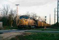 UP  6603  AC4400CW  11-9-13  St. Francis-3 (WC 6643) Tags: up union pacific northbound coal st francis milwaukee sub kenosha subdivision edgx edgewater ge ac4400cw cnw chicago northwestern