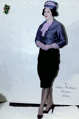 MADAM_WORTHNGTON_SEASONAL_2 (dear_estele3) Tags: costume modiste mannequin millinery advertisement vintage gloves garland hat perm parade skirt season harmony blue