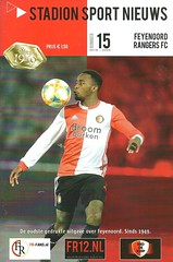 Feyenoord v Rangers 20191128 (tcbuzz) Tags: uefa europa league feyenoord football club netherlands rotterdam de kuip stadium programme