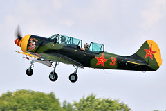 1AA_8414 (chris murkin) Tags: yakovlev yak52 aerostar n152jb yak nikon d850 display eaa oshkosh air aircraft airshow american airventure aeroplane photo takeoff plane prop propblur trainer