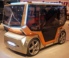 Cubism on wheels (Schwanzus_Longus) Tags: essen motorshow german germany swiss switzerland modern concept car vehicle self driving autonomous rinspeed microsnap