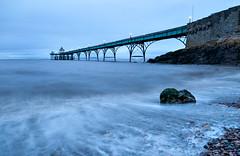 Winter Pier 3 (steve_thole) Tags: clevedonpier clevedon somerset england beach landmark waves wave night sunset twilight