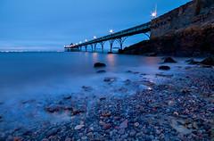 Winter Pier 4 (steve_thole) Tags: clevedonpier clevedon somerset england beach landmark waves wave night sunset twilight