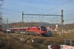 1216 231 ÖBB, Praha Kyje (mrak.josef) Tags: railjet öbb 010 čd