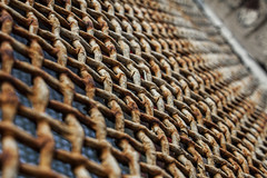 (jfre81) Tags: chicago window grate rust diagonal abstract geometric pattern dof depth focus bokeh 312 windy second city urban james fremont photography jfre81 canon rebel xs eos