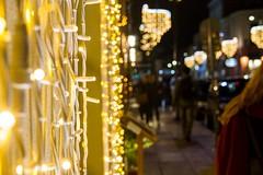 Xmas lights (kpikoulas) Tags: light street city christmas night sidewalk