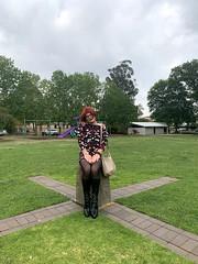 Cece 131219 (6) (rjrgmc28) Tags: adorkable black boots dork dress eyewear geek girl glasses pantyhose stockings tights transgender woman aspergirl