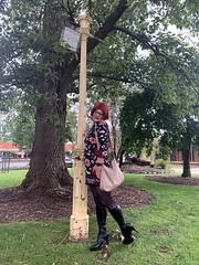 Cece 131219 (2) (rjrgmc28) Tags: adorkable black boots dork dress eyewear geek girl glasses pantyhose stockings tights transgender woman aspergirl