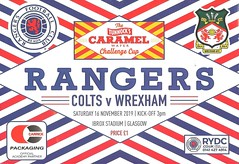 Rangers Colts v Wrexham 20191116 (tcbuzz) Tags: rangers football club colts ibrox stadium glasgow scotland tunnocks caramel wafer challenge cup programme