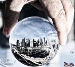Nyc1219 (Scubibubi) Tags: city town nyc new york sky skyline hand lens ball