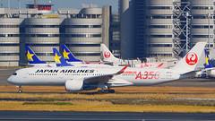 Airbus A350-941, JA01XJ, Japan Airlines (tkosada.mac) Tags: sonyalpha ilca77m2 japanairlines oneworld airbus a359 tokyointernationalairport hanedaairport hnd rjtt