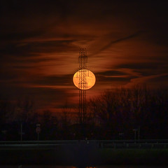 Full Moon rise December 2019 (Dave Hallock) Tags: moon davehallock hallock nikon nikonz6z6 ashburn ashburnvava virginia sky tower powerlines