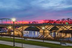 Sunset in downtown Columbus, Ohio (Lyuda_) Tags: sunset columbus ohio bridge sky bright canon twilight red beautifulsunset