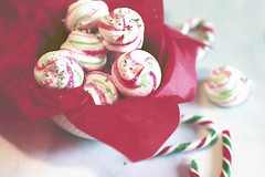 peppermint party (rockinmonique) Tags: food stilllife christmas holidays red white green candycane pepperming meringue moniquewphotography canon canont6s tamron tamron45mm copyright2019moniquewphotography