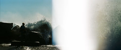 splash (danteandcake) Tags: leicaflex film 35mm venice beach double exposure waves light leak