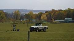Cleaning Up-HFF! (☼☼Jo Zimny Photos☼☼) Tags: fence fencedfriday man truck cleaningup horsefarm trees fall upstateny ulyssesny buildings