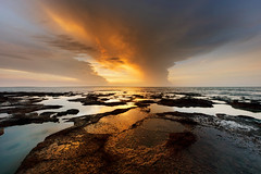 Blue and Gold (Louise Denton) Tags: eastpoint rocks sky sunset cloud darwin nt australia