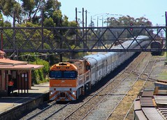 NR30 and NR31 stop at Dimboola station for a crew change and then departing for Stawell (bukk05) Tags: nrclass nr nr30 nr31 nationalrail world wimmera westernstandardgaugeline wagons explore engine export railway railpage rp3 railroad railwaystations railwaystation rail 2019 train tamron tracks tamron16300 trains travel tourism tourist yard photograph photo pacificnational pn passenger passengertrain photography loco locomotive lightroom horsepower hp hindmarsh shireofhindmarsh ge ge7fdl16 greatsouthernrail gsr diesel dimboola flickr station standardgauge sg summer australia artc canon60d canon cv409i victoria victorianrailway vr victorianrailways vline mainline at8 kangaroo