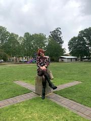 Cece 131219 (7) (rjrgmc28) Tags: adorkable black boots dork dress eyewear geek girl glasses pantyhose stockings tights transgender woman aspergirl