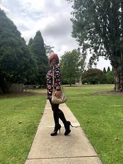 Cece 131219 (3) (rjrgmc28) Tags: adorkable black boots dork dress eyewear geek girl glasses pantyhose stockings tights transgender woman aspergirl