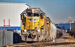 Southbound Transfer in Kansas City, KS (Grant Goertzen) Tags: up union pacific railroad railway locomotive train trains south southbound emd power kansas city yard job