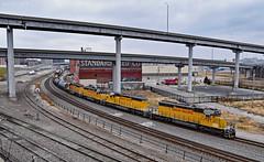 Eastbound Transfer in Kansas City, MO (Grant Goertzen) Tags: up union pacific railroad railway locomotive emd power kansas city missouri east eastbound transfer freight