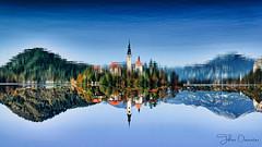 Just for fun:) (kalbasz) Tags: bled reflection water lake slovenia autumn architecture church outdoor nature upside down elitegalleryaoi bestcapturesaoi aoi