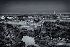 Rocky-Shore-19-12-13-01a (Christopher Alexander Swift) Tags: longexposure rockyshore blackwhite