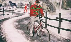 # 00185 (Leon Miranda) Tags: pose bicycle headphone iphone idk pack91 || new glasses deep static alfred v2 shirts sorumin tinsel lovers fatpack anthem pants socks trainers etiquette