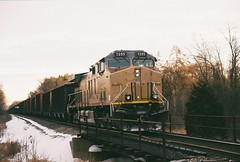 UP  7255  AC4400CW  12-18-13  Vernon-2 (WC 6643) Tags: wi wisconsin public service up union pacific cn canadian national wpsx utility diesel ge ac4400cw coal dpu pusher wc central