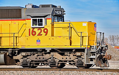 Snoot Nose - UP SD40N No. 1629 in Kansas City, MO (Grant Goertzen) Tags: railroad up train pacific union railway trains locomotive city power kansas emd