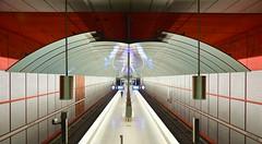 Munich - Kreillerstraße (cnmark) Tags: germany munich deutschland münchen bayern bavaria ubahn subway station kreillerstrase u2 linie2 line2 metal steel walls wände stahl rot red tube underground architecture architektur ©allrightsreserved