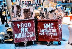 Mr. Rubbish (sjnnyny) Tags: sjnnyny d7200 voightlander5814 nyc streetview manhattan rubbish bins urban