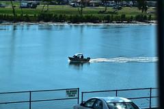 Burnett River (Dreaming of the Sea) Tags: fencedfriday bundaberg burnettriver nikond5500 nikkor18200mm nikkor bluewater bluesky boats