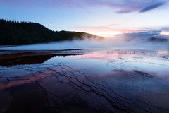 Midway Bassin le Grand Prismatic du Yellowstone au soleil couchant (Laurent BASTIDE Photographies) Tags: yellowstone sunset landscape usa canon 6d mark ii