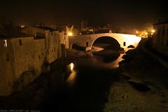 FR11 3385 Le Pont de l'Abbaye et la rivière l'Orbieu. Lagrasse, Aude, Languedoc (Templar1307) Tags: lagrasse aude languedoc languedocroussillon occitanie france lagrassa night longexposure canon1d bridge pont rivierelorbieu river orbieu pontdelabbaye