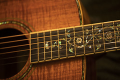 Laravee guitar (Karon Elliott Edleson) Tags: musicalinstrument guitar accousticguitar laravee koawood strings closeup macro music sounds lookingcloseonfriday guitarlove