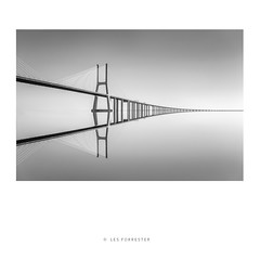 Tranquility No2 (les forrester) Tags: scapes city bridge lisbon portugal blackandwhite monochrome fineart formatthitech leica leicauk