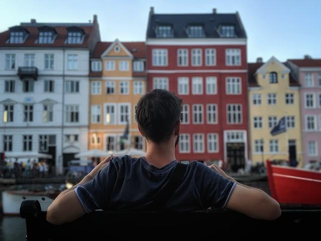 Εγώ στο Nyhavn, Copenhagen, Denmark