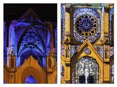 n°52 Fête des lumières sur St Roch. 2019_11_27. (avibla66) Tags: fêtedeslumières montpellier façade église stroch