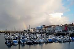 También salió el arco iris (Micheo) Tags: spain puertodegijón asturias arcoiris rainbow