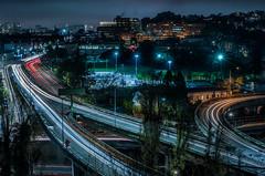 potrero avenue ramps (pbo31) Tags: sanfrancisco california night dark december 2019 nikon d810 boury pbo31 black color city over bernalheights lightstream traffic motion 101 highway ramp exit infinity skyline urban