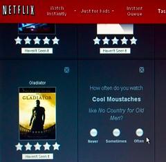 Cool Moustaches (jeremy.gilmore.art) Tags: netflix selection rating cool mustache retro algorithm gladiator often moustache