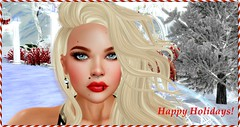 Happy Holidays from Tastic! (Spanky SL *Owner of Tastic store*) Tags: tastic photo picture closeup holidays christmas winter blonde catwa truth hair mesh sl secondlife flickr