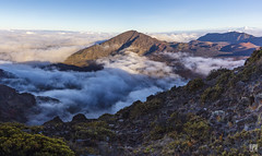 Haleakalā National Park with a sea of clouds (lycheng99) Tags: seaofclouds clouds haleakalānationalpark crater peak mountains landscape nature explore travel sunset volcano hawaii island