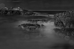 Rocky-Shore-19-12-13-12d (Christopher Alexander Swift) Tags: longexposure rockyshore blackwhite