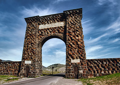 The ARCH (Pete Zarria) Tags: montana national park yellowstone roosevelt arch brick americana history